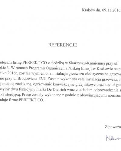 PONE Brodowicza 3 ogrzewanie CO gaz wod kan perfektco.pl