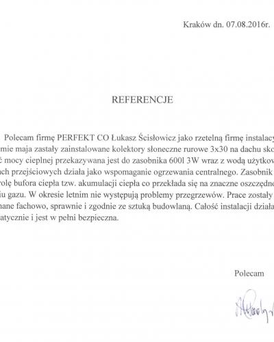 PONE Kraków Woźniców bufor CO kolektory akumulacja ciepła